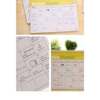 Sổ kế hoạch để bàn Monthly Planner của quayhangrong tại Đồng Nai - 1462548