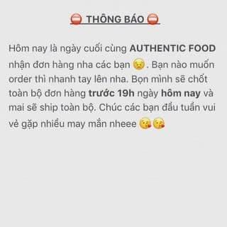 Thông báo của authentic.food tại Hồ Chí Minh - 2462867
