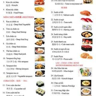 Thực đơn buffet của sakuradeli tại 082 Hợp Thành, P. Phố Mới, Lào Cai, Thành Phố Lào Cai, Lào Cai - 3700390
