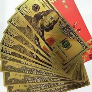 TIỀN LÌ XÌ MẠ VÀNG 100USD của taidao8 tại Hẻm 42 Hoàng Hoa Thám, Quận Bình Thạnh, Hồ Chí Minh - 2486309