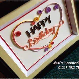 Tranh HAPPY Birthday 💓 của munshandmadeshop tại 01213 582 755, Quận 3, Hồ Chí Minh - 664598