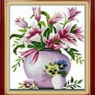 Tranh thêu bình hoa của lamhung21 tại Shop online, Huyện Krông Búk, Đắk Lắk - 2672262