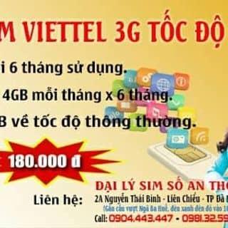 Trọn gói 6 tháng, không phải nạp tiền. Sim còn ít, nhanh chân nhé của thoa143 tại Đà Nẵng - 2539990
