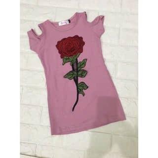 Váy hở vai đính hoa hồng chất cotton 12-24kg #95k của jojosophie tại Hồ Chí Minh - 3513902
