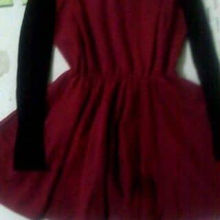 Váy xòe dạ kết hợp tay len đen của kem.159 tại Quảng Ninh - 2483654