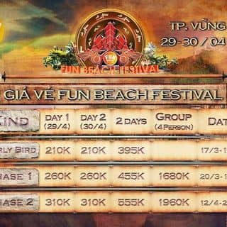 Vé chính thức Fun Beach Festival  của huypham2710 tại Hồ Chí Minh - 2866618
