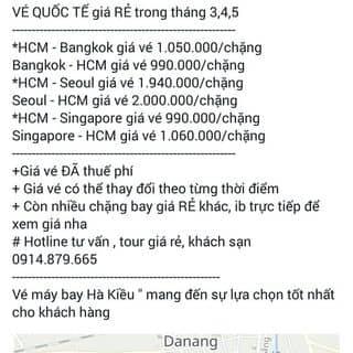VÉ QUỐC TẾ GIÁ RẺ của moonmoon94 tại Quảng Nam - 2695356