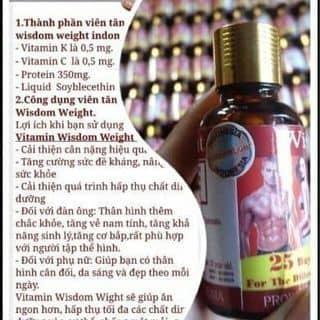 VITAMIN TĂNG CÂN WISDOM WEIGHT của vodung32 tại Quảng Ngãi - 2290485