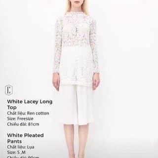 White lacey long top Cocosin của trinhkoncrazy97 tại Hồ Chí Minh - 2412598