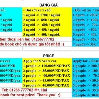 Xe taxi giá rẻ nhất xuống sân bay và ngược lại của danghai165 tại Thừa Thiên Huế - 2394548